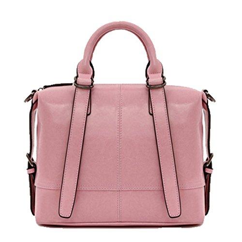 porté fille Cuir Sac pour en main pink à femme épaule Sac OHmais Sac bandoulière gqB7xxt