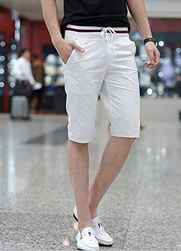 SHU QI Cotton Mens Casual Thread Shorts Five Pants