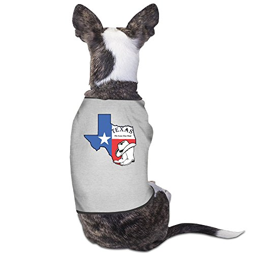 (Pet Map Of Taxas Flag Dog/cat T-Shirt Puppy Polo Clothes Outfit Apparel Coats Tops Medium)