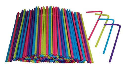 Hanamal Colored Disposable Flexible Drinking Straws (450pcs)