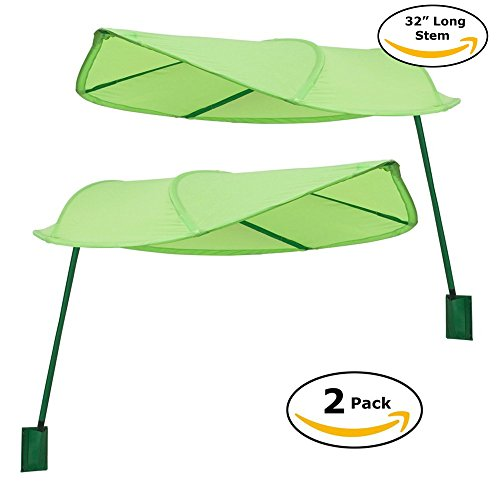 Ikea Lova Green Leaf Canopy, LONG STEM Version (Original) Perfect for Kids Room, Office Workstation, Office Desk Privacy, Classroom Reading Corner (Set of 2)