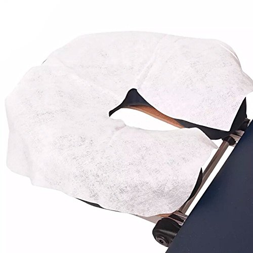 Lifesoft Disposable Massage Headrest Covers – Medical Grade, Ultra Soft, Face Rest Cradle Covers, White, Pack of 100 by Lifesoft