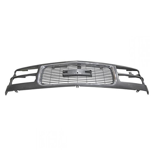 Black w/ Chrome Front End Grill Grille for GMC C/K Pickup Truck Yukon (Gmc Truck Grilles)