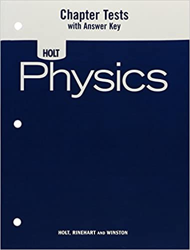 Amazon physics chapter tests with answer key 9780030368370 physics chapter tests with answer key 1st edition fandeluxe Gallery
