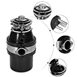 Garbage Disposer, 1HP 2600RPM Continuous Feed Food Waste Household Kitchen Disposal 34 OZ Capacity