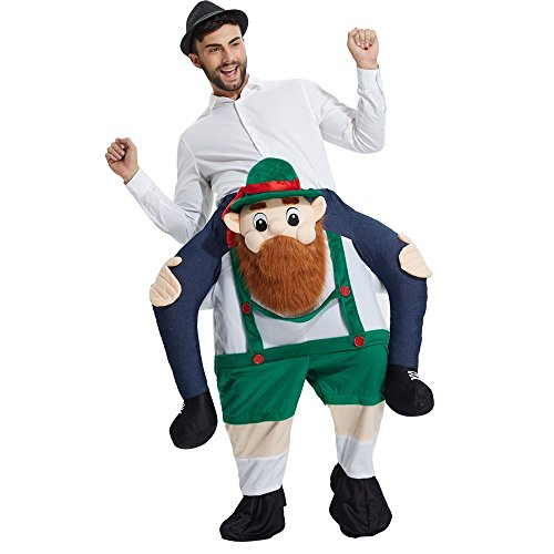 Ride On Me Costume (Yeahbeer Piggyback Ride On Riding Shoulder Adult Costume Carry Me Unisex Fancy Dress (Bearded Guy))