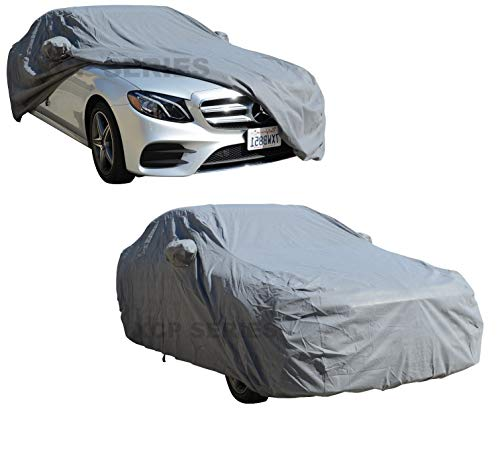 (Mercedes Benz E-Class 1985 ~ 2014 All Weather Car Cover - Waterproof Indoor, Outdoor Automotive Accessories - Dust, UV Ray, Mist Vehicle Protection - Full Semi-Custom Fit with Elastic Hem)
