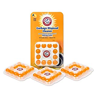 Arm & Hammer 48-Count Sink Garbage Disposal Cleaner, Freshener & Deodorizer Capsules Citrus Scent, with Power of Baking Soda