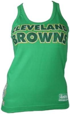 Reebok Vintage Cleveland Browns Vest Mujer Retro Reservorio Tops racerbacks punteras Camisetas algodón NFL American Football Camiseta Jersey Mujeres verde Talla:34 ...