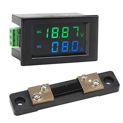 DROK DC 0-200V 50A Digital Voltage Current Meter
