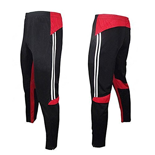 COOLOMG Men's Soccer Training Sweat Pants Athletic Apparel Casual Sport Trousers L