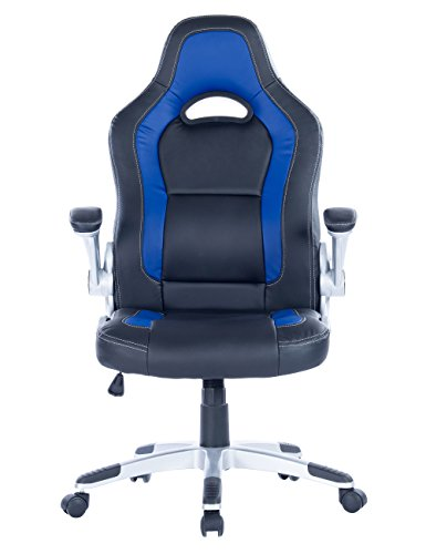 Killbee Ergonomic Swivel Executive Office Gaming Adjustable Chair, High-Back Upholstered PU Leather Desk Chair,Blue