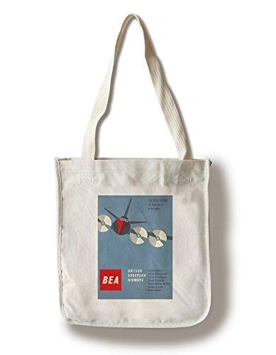 british-european-airways-vintage-poster-artist-muller-brockmann-switzerland-c-1956-100-cotton-tote-b
