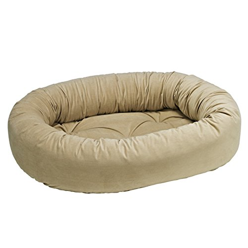 Donut Bed in Almond Fabric (Medium  35 x 27 x 8 in.)