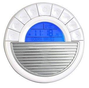Portable Soothing Sounds Spa Travel Clock w/Alarm, Calendar, Sleep Timer & 12 Relaxing Nature Sounds (Bird Sound Alarm Clock)