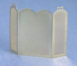 - Dollhouse Miniature Brass Firescreen