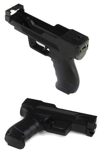 NioTech Wii Motion Plus Gun for Nintendo Wii (Black,set of 2)