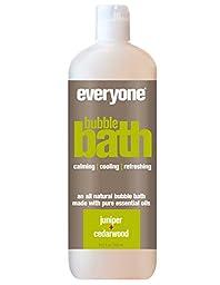 Everyone Natural Bubble Bath, Juniper & Cedarwood, 20.3 Ounce