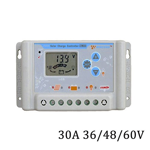 DPJ 10A 30A 36V 48V 60V LI LI-ION NI-MH LiFePO4 Battery Solar Charge Controllers Regulator SL03-4810A SL03-4830A (SL03-4830A) by DPJ