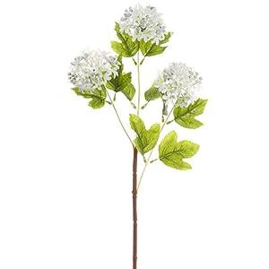 "24.5"" Silk Snowball Flower Spray -White (Pack of 12) 117"