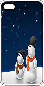 A Couple Of Snowmen Star Gazing Clear Rubber Case for Apple iPhone 4 or iPhone 4s