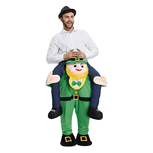Ride On Me Costume (YEDASI Piggyback Ride On Riding Shoulder Adult Costume Easter Mascot Pants (Green man),X-Large)