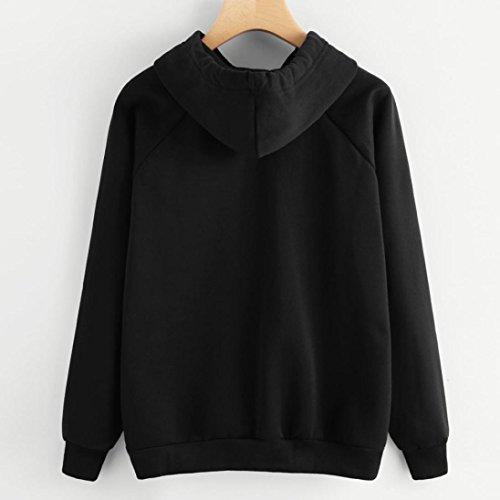 Casual Negro Tops Sweatshirt Mujer Deportivas Sudaderas Otoño Ojos Manga Y Sudaderas Larga Imprimir Pestañas Primavera Ashop Invierno Blusa pTw0UTq