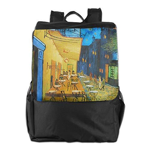 Beach Surfer School Backpacks Vintage Small Town Oil Painting Art Knapsack Polyester Multifunction Unisex]()