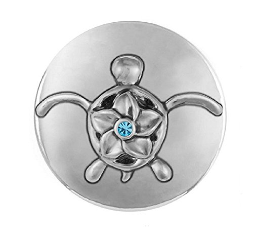 Ginger Snaps Flower Sea Turtle SN21-41 (Standard Size) Interchangeable Jewelry Accessories (Turtle Rhodium)