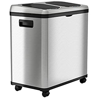 iTouchless Stainless Steel Trash Can / Recycler, Automatic Sensor Touchless Lid, Dual-Compartment (8 Gal each) - 16 Gal / 61 L (B002Q87A7U) | Amazon Products