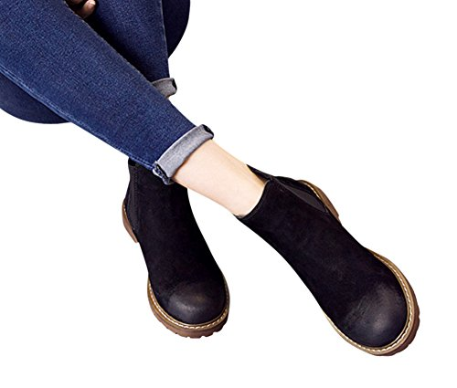 Ankle Unisex Black Chelsea Tortor Bootie Adult Teenager Leather 1bacha Pw5qY