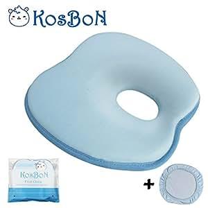 Amazon Com Ksb 9 Inches Blue Soft Memory Foam Baby Pillow