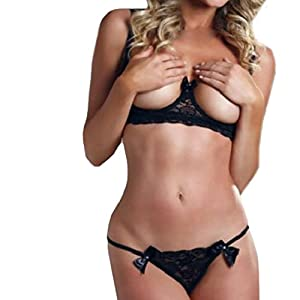 Ladies sexy lace bra, PASATO Hot! Thong underwear Babydoll pajamas underwear + G pants