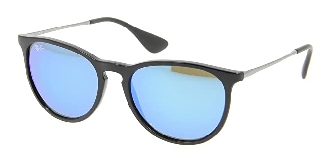 09cb58ad1a5 Image Unavailable. Image not available for. Color  Ray Ban RB4171 601 55 54  Black Blue Mirror Erika Sunglasses Bundle-2