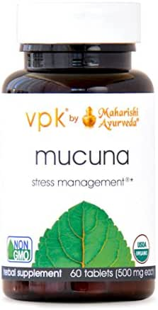 Organic Mucuna   60 Herbal Tablets – 500 mg ea.   Nervous System Tonic   Promotes Relaxation & Healthy Response to Stress   Natural Source of L-dopa   Supports Healthy Libido & Fertility