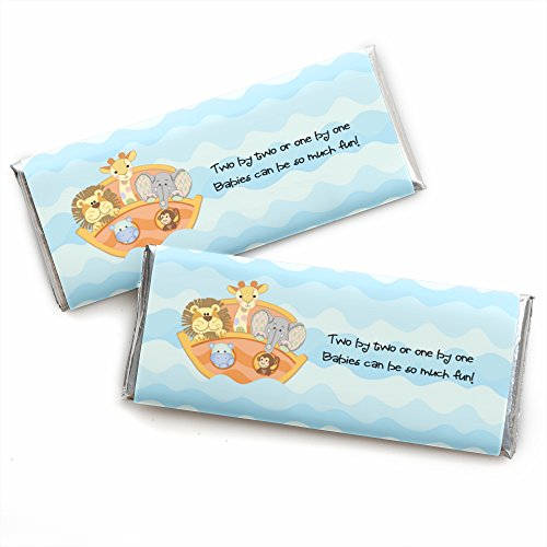 Noah's Ark - Candy Bar Wrappers Baby Shower Favors - Set of 24 ()