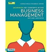 Jacaranda Key Concepts in VCE Business Management Units 3&4 6e learnON & print & studyON