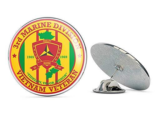 US Army 3rd Marine Division Vietnam Veteran Metal 0.75