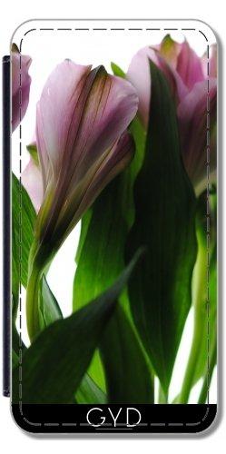 Funda de silicona para Ipod Touch 4 - Flores De Color Rosa En Blanco by Blooming Vine Design Polipiel