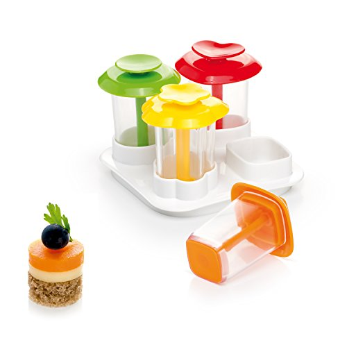 Canape Cutters - Tescoma Canapé makers PRESTO Foodstyle, 4 shapes