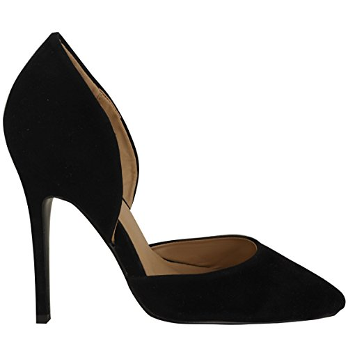 Fashion Thirsty Womens High Heel Court Shoes Cut Out Smart Office Work Stiletto Pumps Size 9
