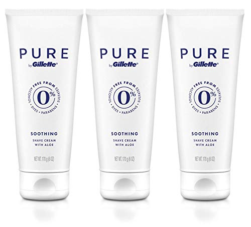 PURE by Gillette Shaving Cream for Men, 6 fl oz, 3 Pack