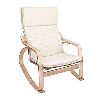 Beautiful lyndan surtsey bouleau fauteuil bascule avec for Chaise bercante allaitement