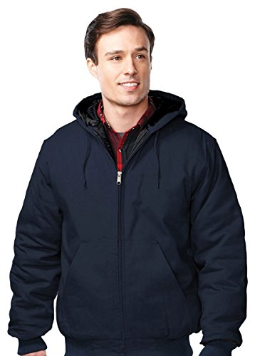 Tri-Mountain Foreman Hooded Work Jacket, LT, NAVY