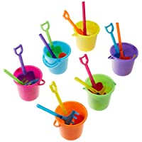 Fun Express Colorful Mini Beach Playsets- Buckets, Shovels, Rakes, and Scoops