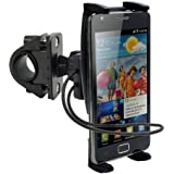High Grade Ultra-Grip Bike Mount / Motorcycle Holder for Google Pixel / Pixel XL w/ Swivel Cradle Mount and Safety Strap