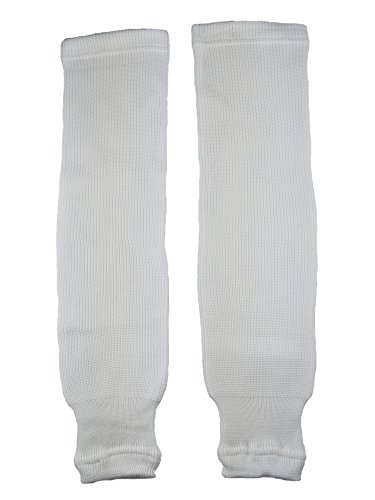(Pear Sox Pro Weight Solid Color Hockey Socks (White, Intermediate) )