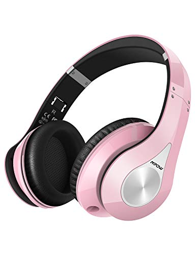 Mpow On-Ear Headphones Bluetooth Headphones with Noise Cancelling Stereo, Foldable Headband, Ergonomic Designed Soft Earmuffs, Built-in Mic, 13 Hours Playback Time for PC, Laptops and Smartphones