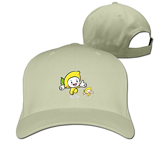 Odr KOPWIEA Men's One Big And One Small Cartoon Lemon Casual Style Football Natural Caps Hats Adjustable Snapback