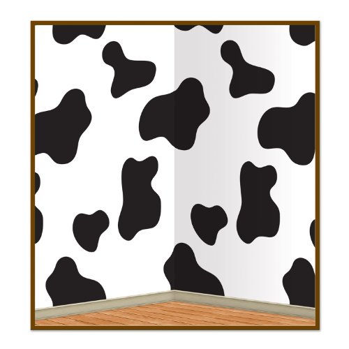 Beistle Company 52124 Cow Print Backdrop - Pack of 6